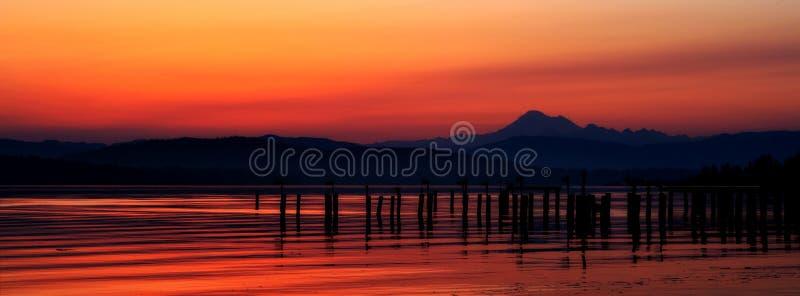 Sunrise from Anacortes, Washington State royalty free stock image