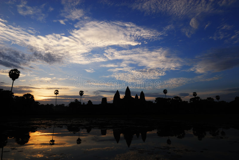 Sunrise at angkor wat stock photos