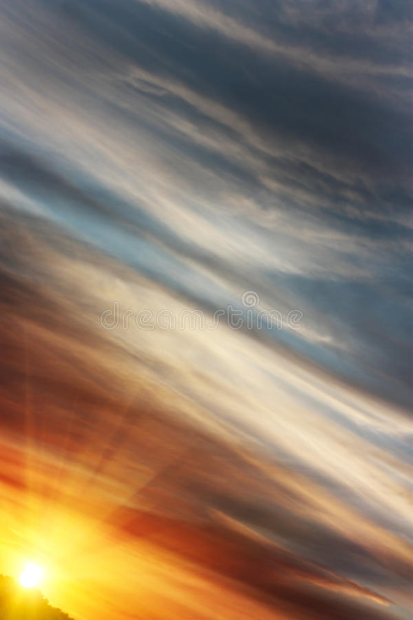 Download Sunrise On An Angle With Colourful Sky Stock Photo - Image: 21168110