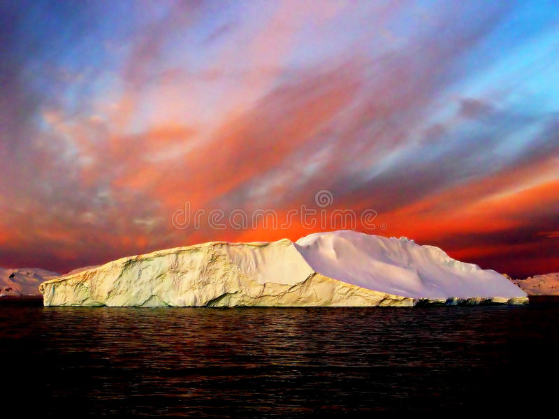 Sunrise, Antarctica royalty free stock photos
