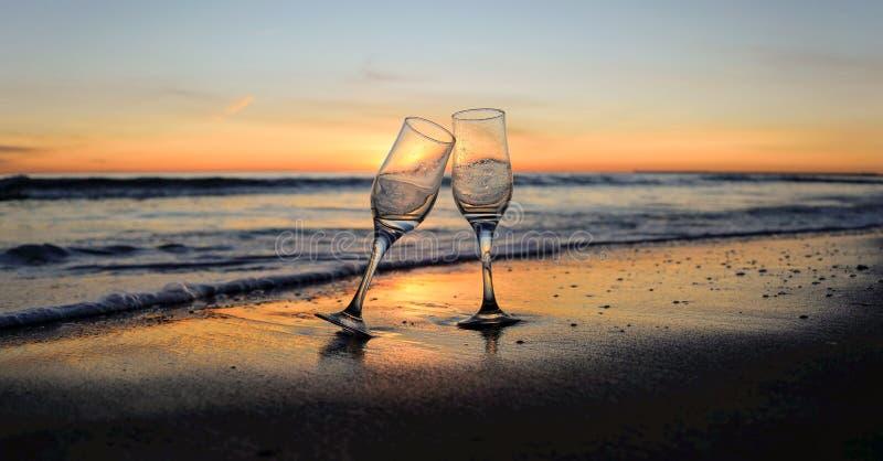 Celebrate at sunrise stock image