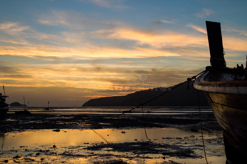 Sunrise in Asia stock photography