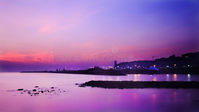 Sunrise in Atakum Samsun Turkey. Long exposure royalty free stock photo