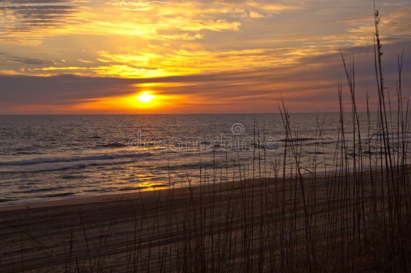 Sunrise at the Atlantic Ocean stock photography