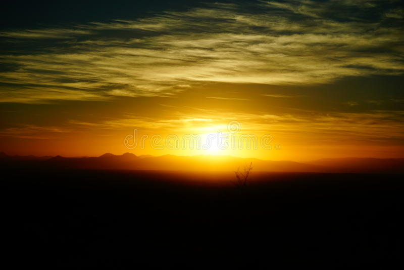 Sunrise in AZ royalty free stock photo