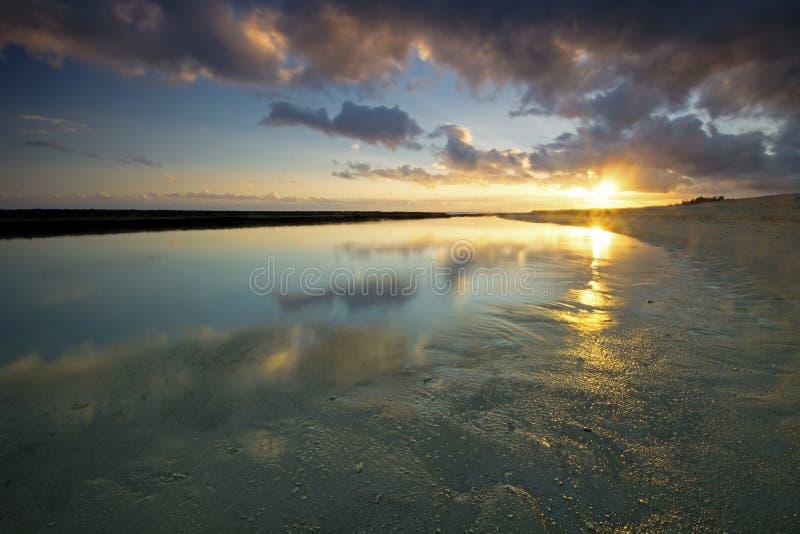 Sunrise on Baby Beach, north shore, Maui, Hawaii royalty free stock photos