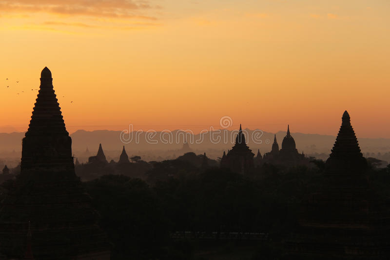Sunrise at Bagan stock photo