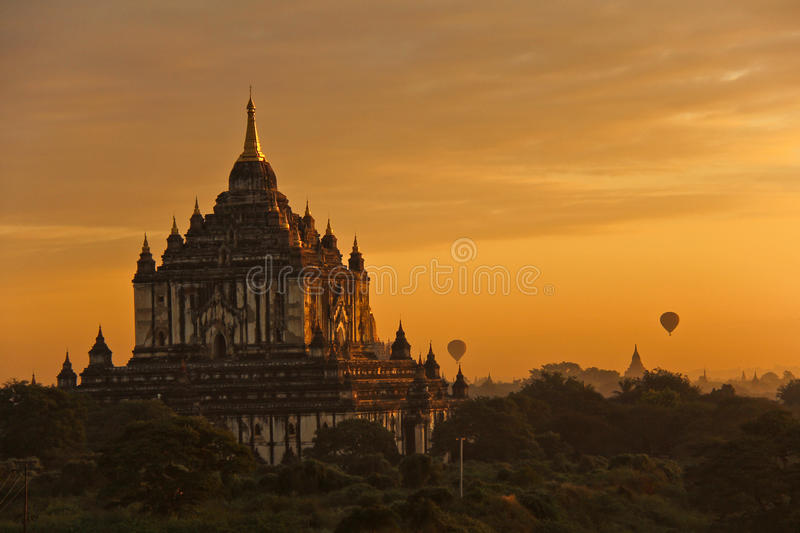 Sunrise at Bagan royalty free stock image
