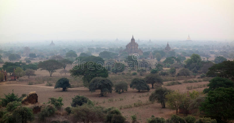 Sunrise in Bagan royalty free stock photography