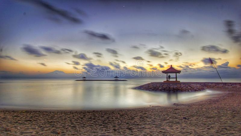 Sunrise in bali royalty free stock photography