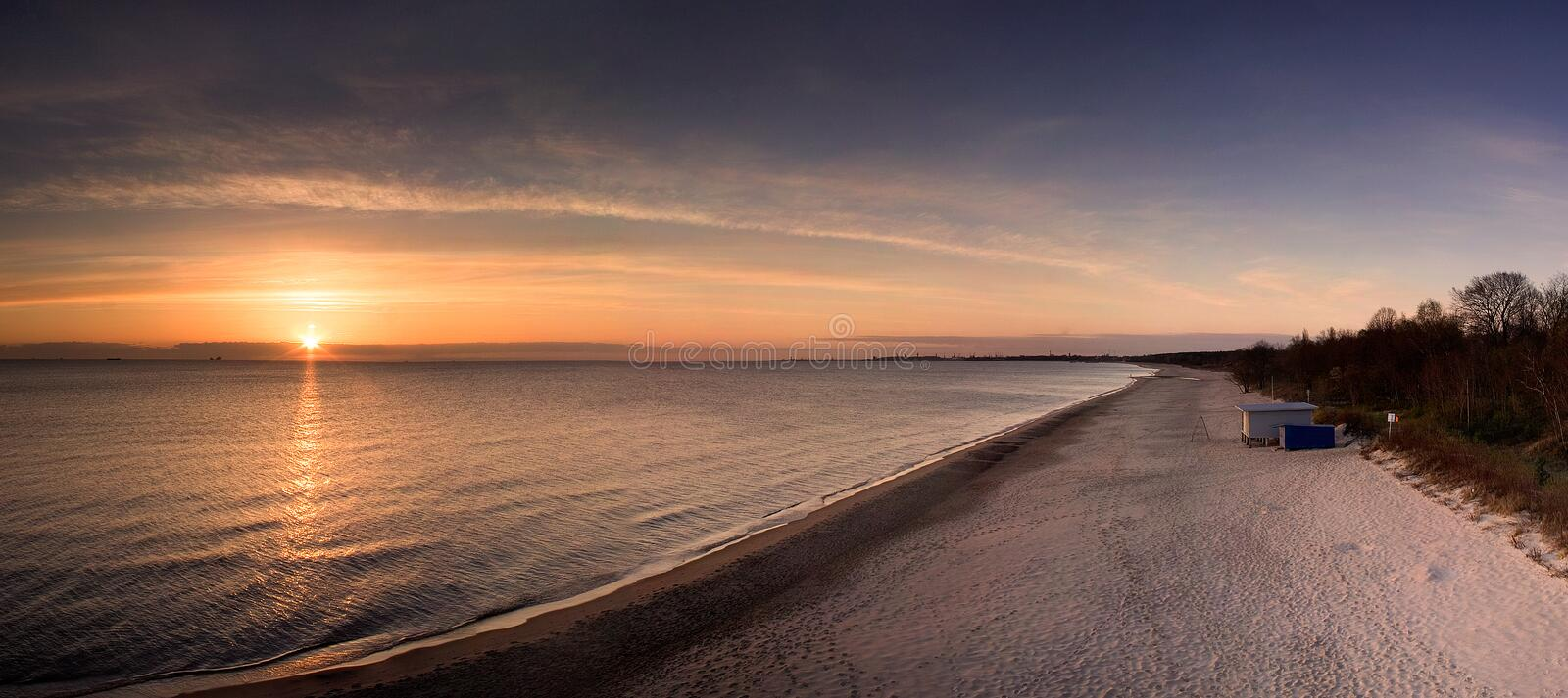 Download Sunrise on Baltic Sea stock photo. Image of dawn, panorama - 4327176