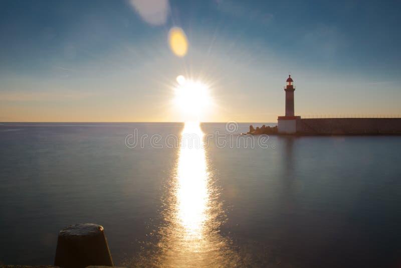 Sunrise in bastia royalty free stock photos