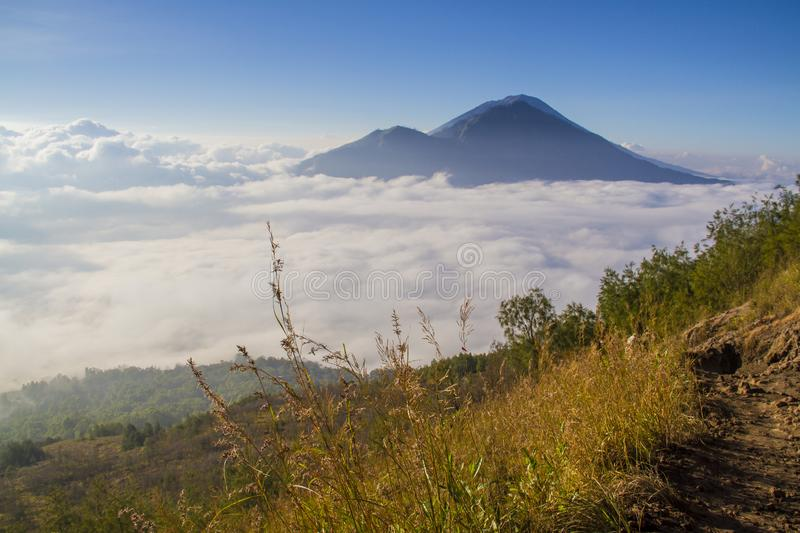 Sunrise on Batur volcano - Bali stock images