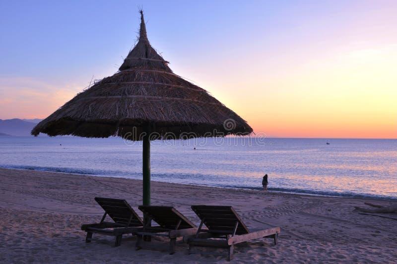 Sunrise at Beach stock images