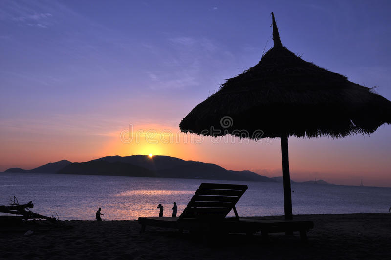 Sunrise at Beach royalty free stock images