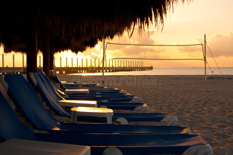 Download Sunrise on the Beach stock photo. Image of relaxation - 8622070