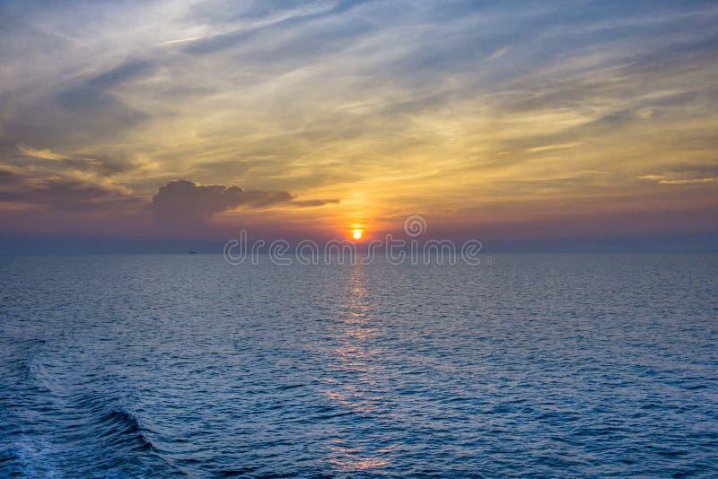 Sunrise on the beach, Chaweng Beach, Koh Samui stock photography