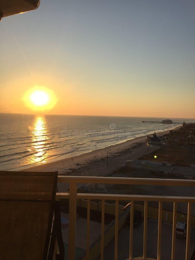 Sunrise at the beach. Daytona beach sunrise good mornings stock photography