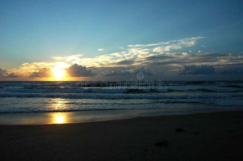 Sunrise on the Beach royalty free stock photography