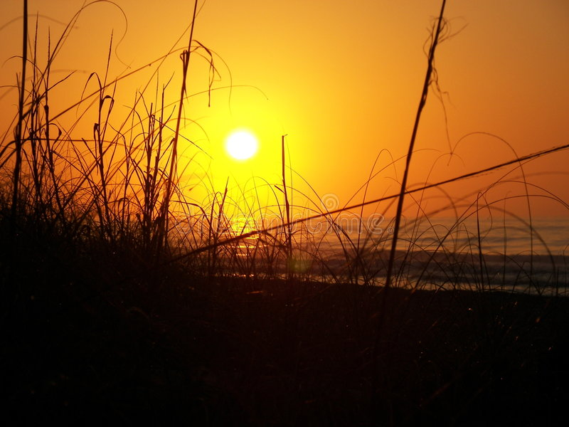 Download Sunrise Behind the Dunes stock image. Image of atlantic - 7289421