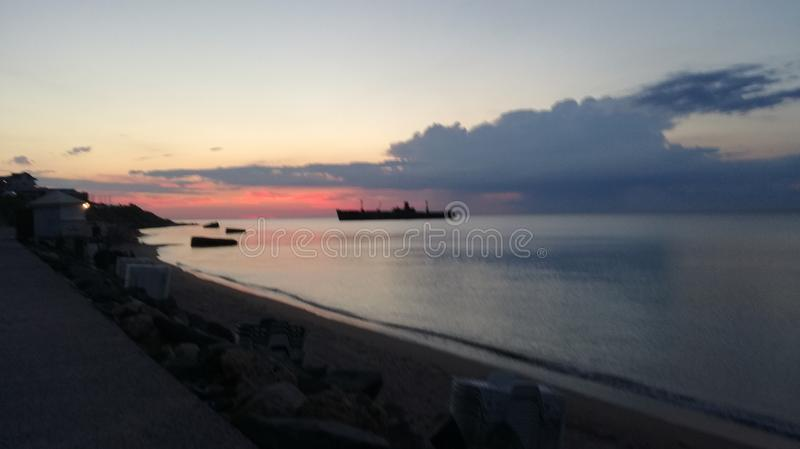 Sunrise at his best at the Black Sea royalty free stock photo