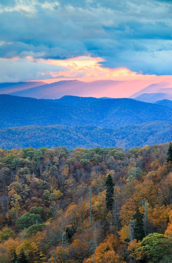 Sunrise Blue Ridge Mountains North Carolina stock photos