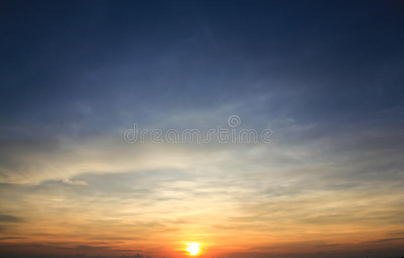 Download Sunrise With Blue Sky Background Stock Image - Image: 24638417