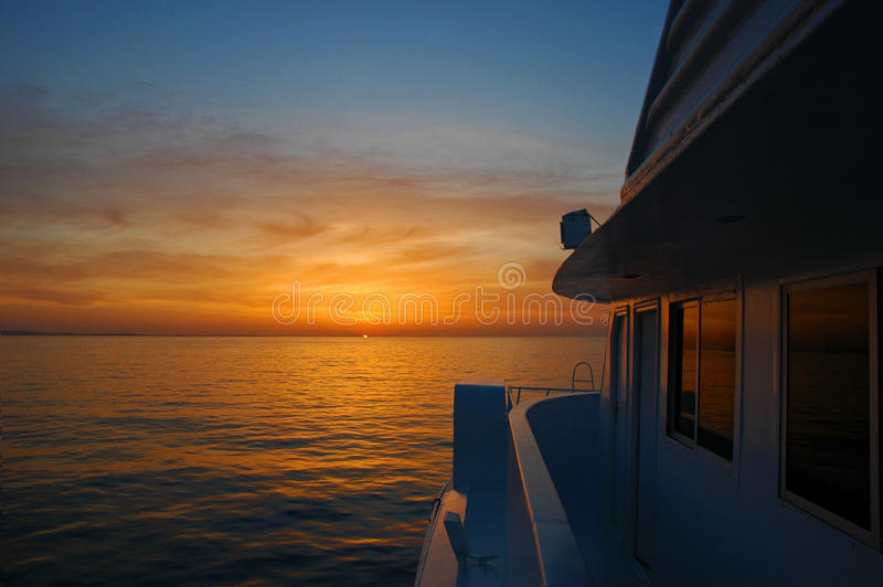 Download Sunrise On The Boat Stock Images - Image: 13645374