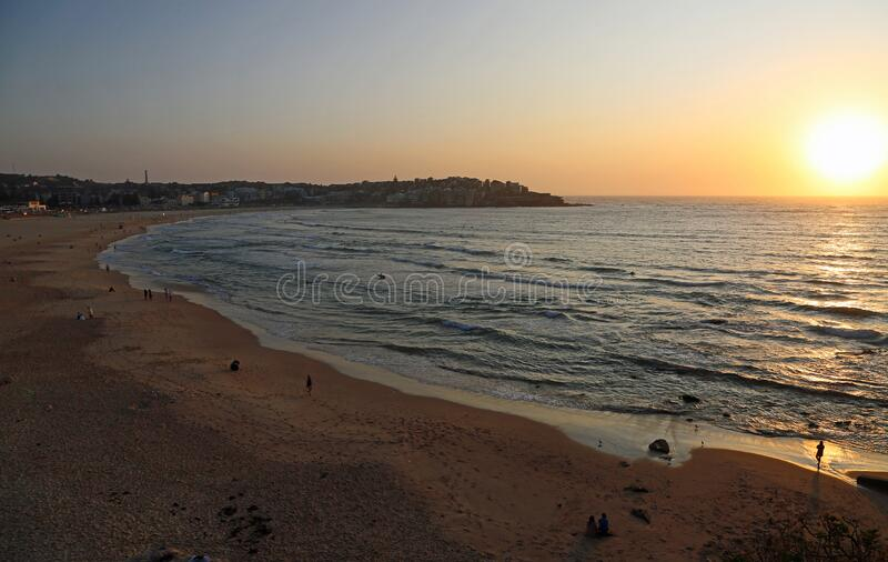 Sunrise on Bondi beach stock photography