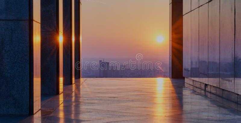 Sunrise in Bratislava, Slovakia. From Slavin royalty free stock photo