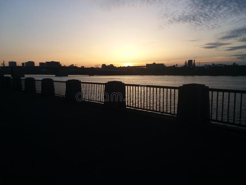 Sunrise on Burnside stock image