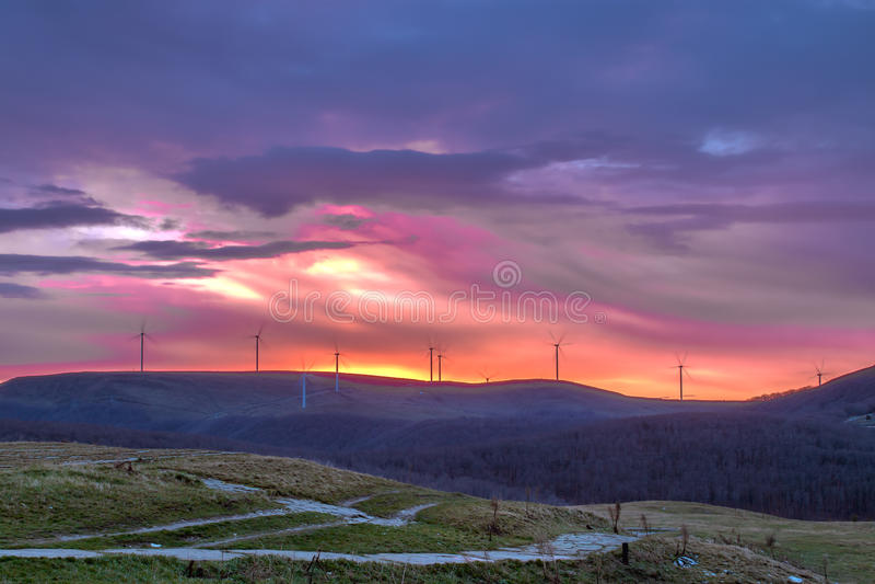 Sunrise from Buzludzha royalty free stock image
