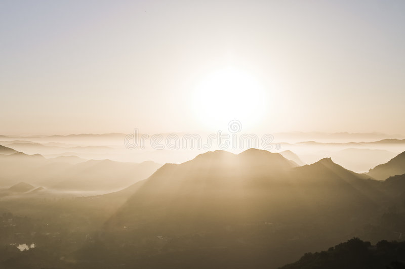 Download Sunrise in the Canyons stock image. Image of rise, bright - 5405183
