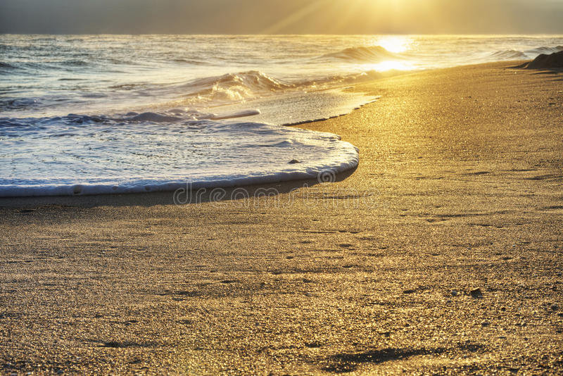 Sunrise in Cape Canaveral. National Seashore, HDR Image royalty free stock images