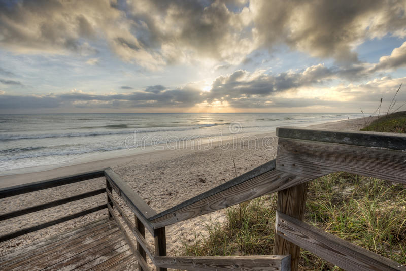 Sunrise in Cape Canaveral National Seashore stock photo
