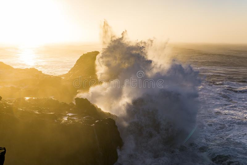 Sunrise at Cape Dyrholaey, the most southern point of Iceland stock images