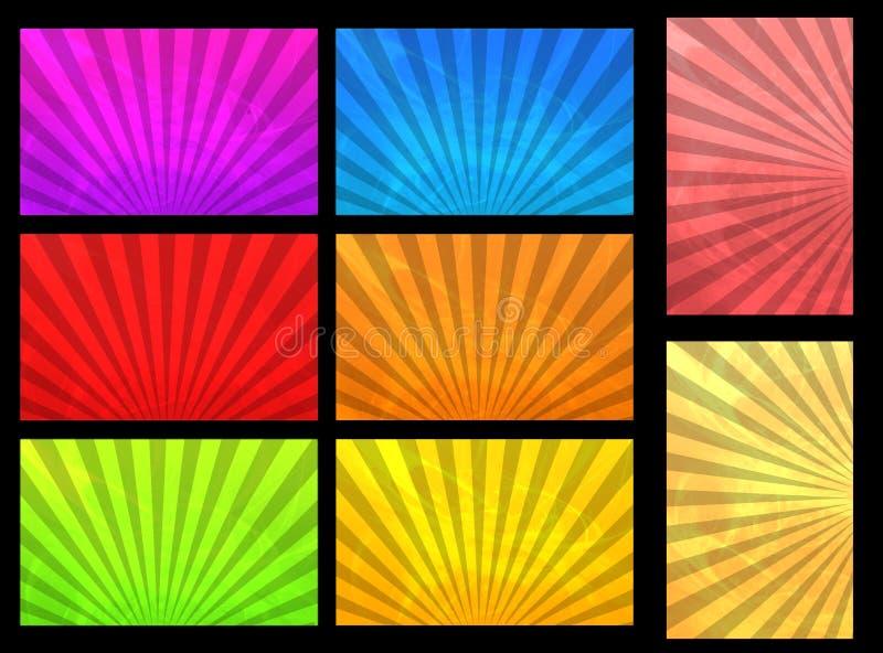 Sunrise card templates stock illustration