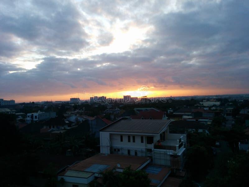 Sunrise in cebu stock photos
