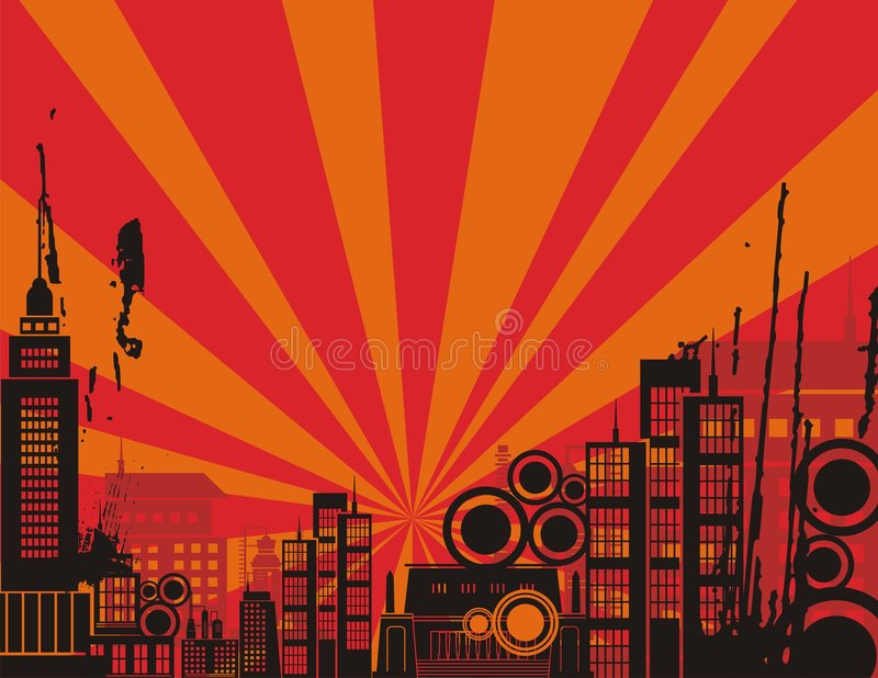 Download Sunrise City Background Series Stock Vector - Illustration: 2130474
