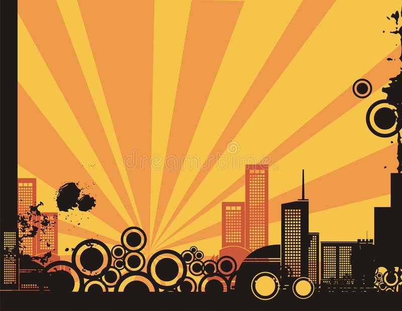 Download Sunrise City Background Series Stock Vector - Image: 2130784