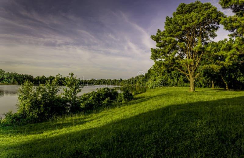 Sunrise on Clear Creek, Arkansas royalty free stock images