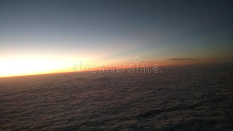 Sunrise from above royalty free stock photography
