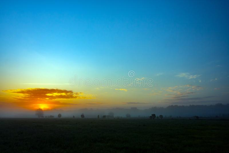 Sunrise with clouds, sunrise in the morning royalty free stock photos