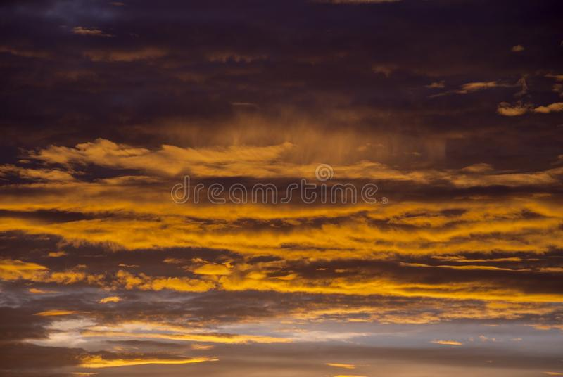 Sunrise clouds and mountains in Guatemala, dramatic sky with striking colors. royalty free stock image