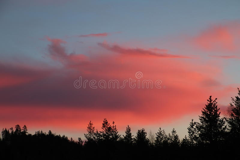 Sunrise clouds stock images