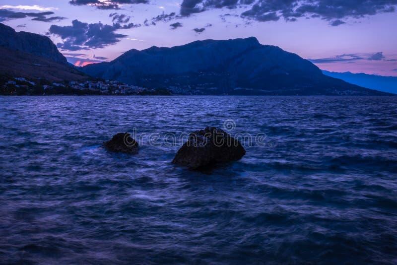 Sunrise Coastline Over Cliffs stock photos