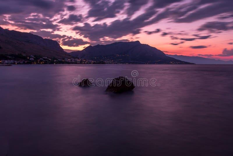 Sunrise Coastline stock images