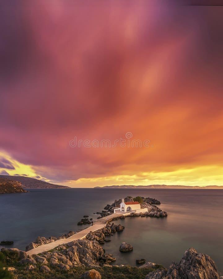 Greece chios island agios isidoros sunrise royalty free stock image