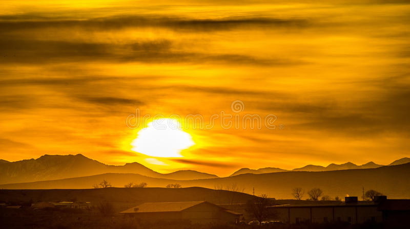 Sunrise colorado rocky mountains. Sunrise over colorado rocky mountains royalty free stock photo