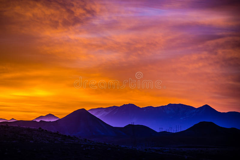 Sunrise colorado rocky mountains. Sunrise over colorado rocky mountains stock photography